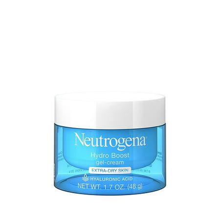 Glycolic Acid Facial Cream (Neutrogena Hydro Boost Hyaluronic Acid Gel Face Moisturizer to hydrate and smooth extra-dry skin, 1.7 oz)