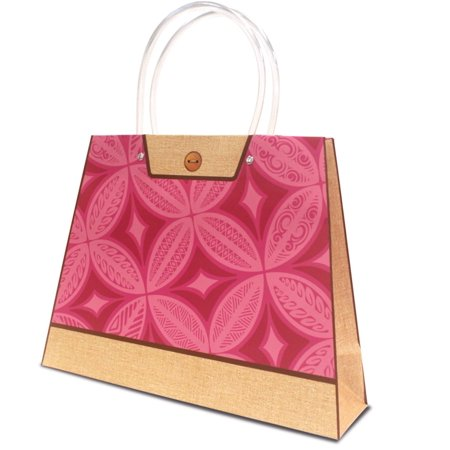 Hawaiian Themed Heavy Paper Gift Purse Handbag Bag