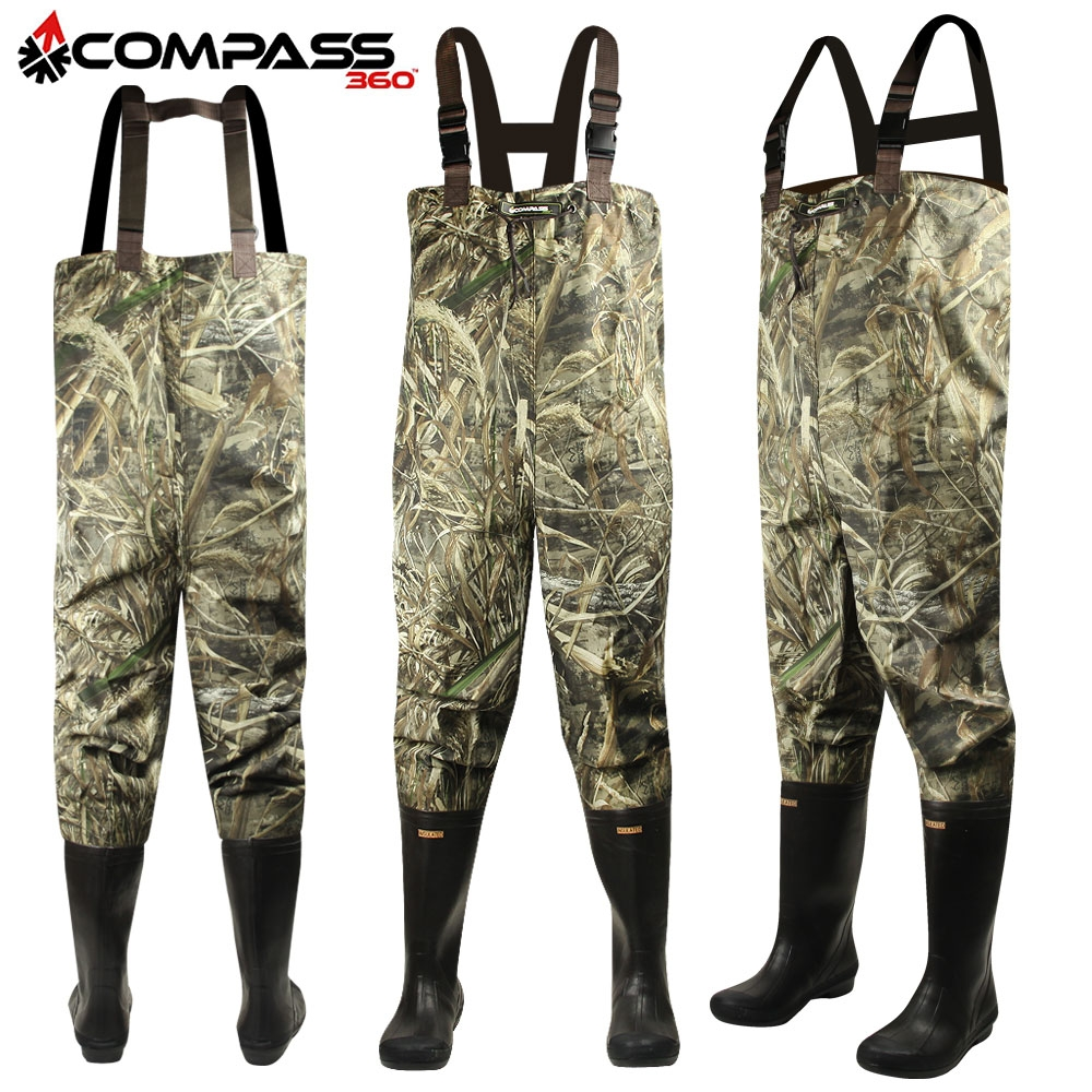Click here to buy Compass 360 Oxbow Camo 2-Ply Rubber Chest Wader (12)- RTMX-5.