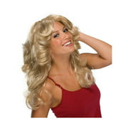 Feathered 70s Wig - Blonde - Womens Costume Accessory