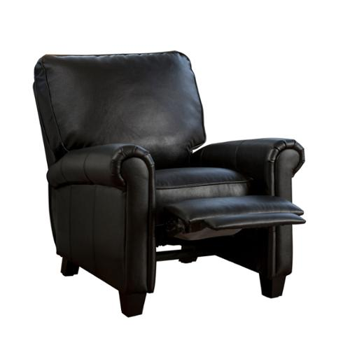Denise Austin Home Kent Leather Recliner Club Chair
