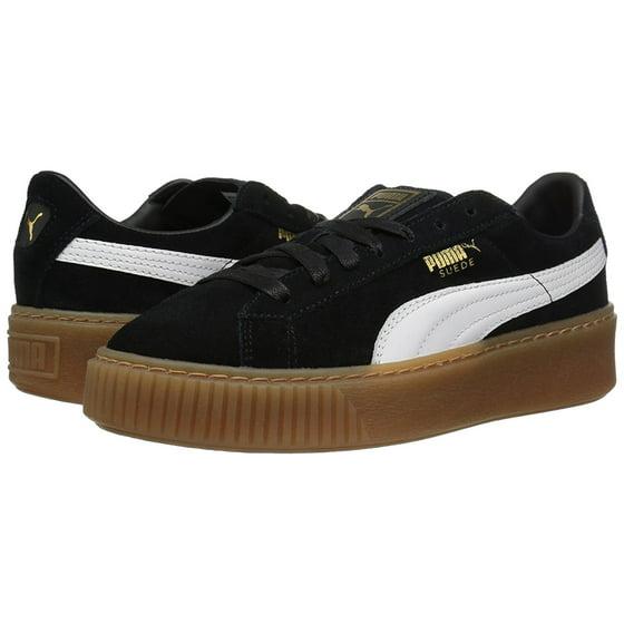 2f5cd1842dc03e PUMA - Puma Suede Platform Core Women s Sneakers Black White363559-02 -  Walmart.com