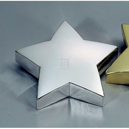 STAR PAPERWEIGHT, NICKEL PLATED,