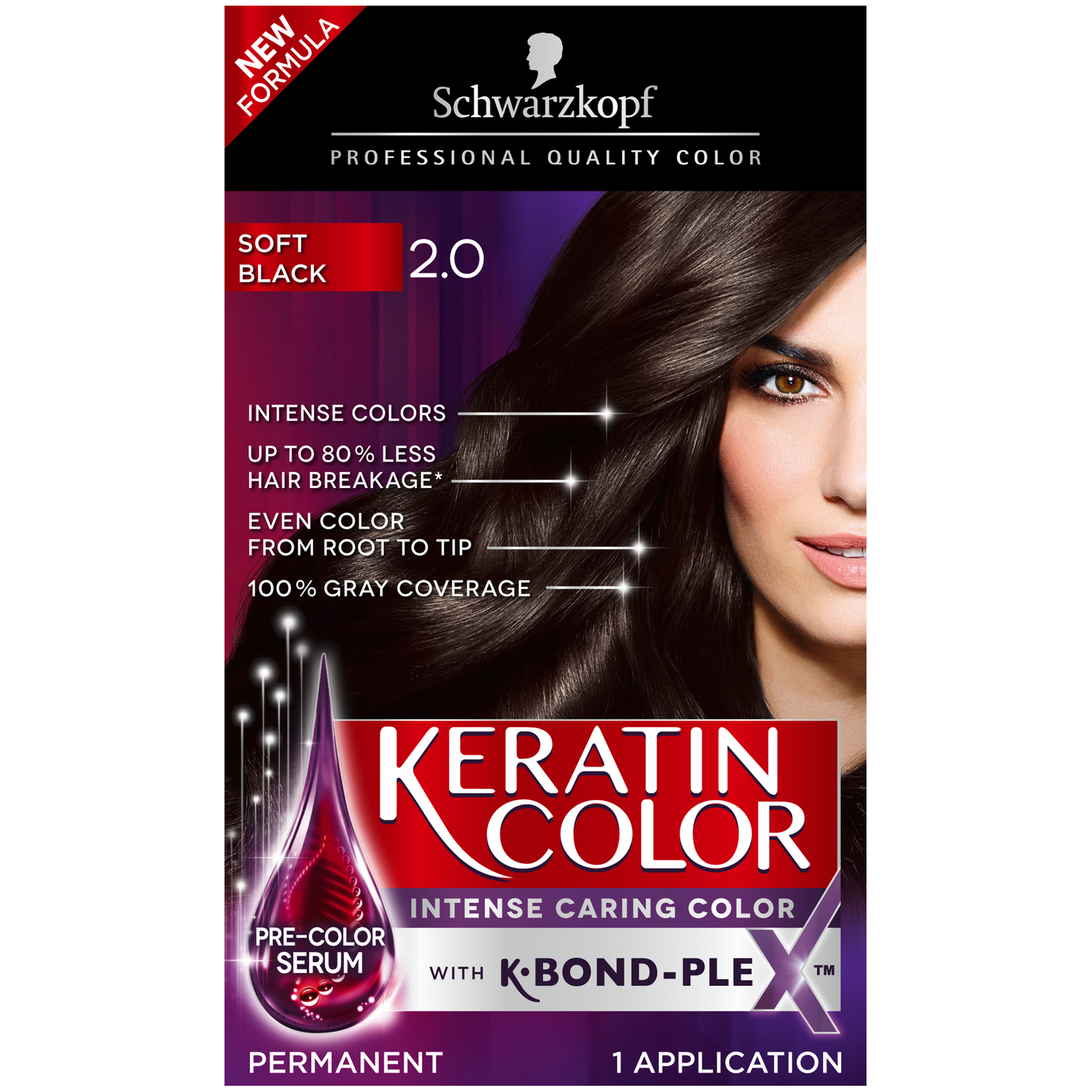 Ebony hair dye