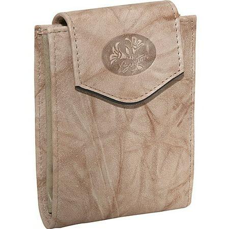 Burgundy Ladies Convert Billfold Leather Wallet