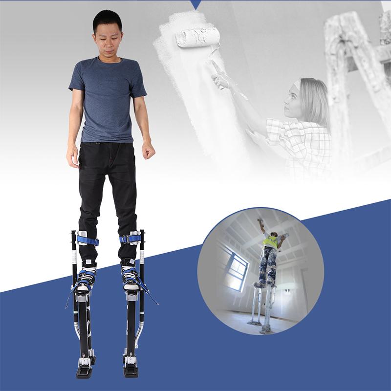 Zimtown Height Adjustable Plastering Stilts, Portable and Lightweight Aluminum SHeetrock Drywall Stilts... by