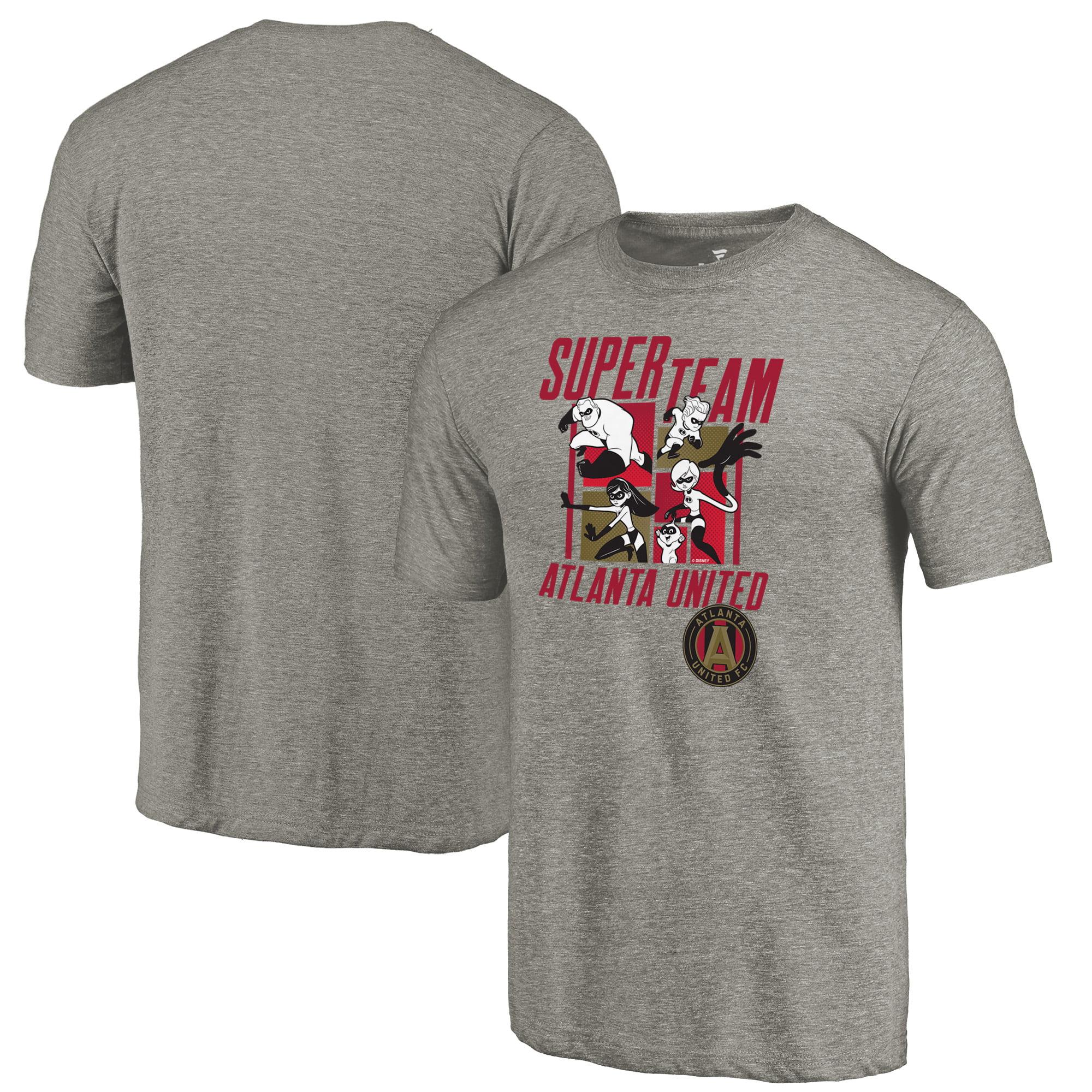 Atlanta United FC Fanatics Branded Disney Pixar The Incredibles Super Team Tri-Blend T-Shirt - Heathered Gray
