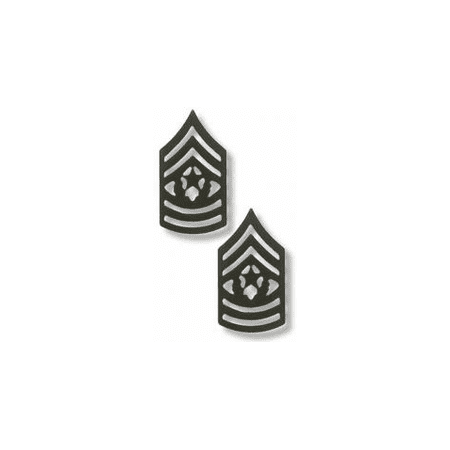 Us Army Unit Insignia (US Army Command Sergeant Major Black Metal Collar Rank Insignia )