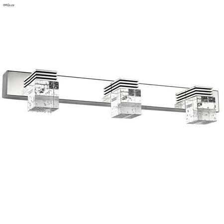 Letsun modern 9w 3 light cool white bathroom crystal for Bathroom crystal light fixtures