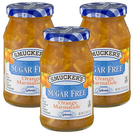 Marmalade Pot ((3 Pack) Smucker's Sugar Free Orange Marmalade, 12.75 oz)