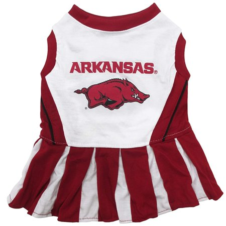 Arkansas Razorback Game (NCAA ARKANSAS RAZORBACKS Dog Cheerleader Outfit, X-Small, Are you getting ready for game day? We've got you covered…! By Pets)
