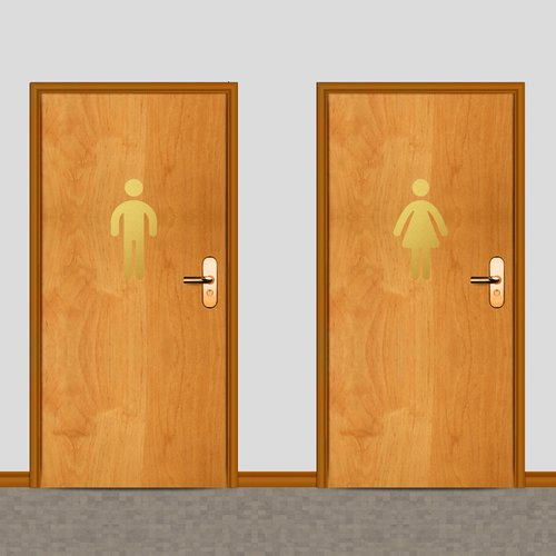 Sweetums Wall Decals Men's and Women's Restroom Wall Decal