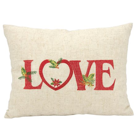 - Nourison Home For The Holiday Holiday Love DecorativeThrow Pillow, 12