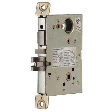 SCHLAGE L9456LB RH 134 Mortise Lockset,Corridor,L9000 Series (Schlage Aluminum Mortise)