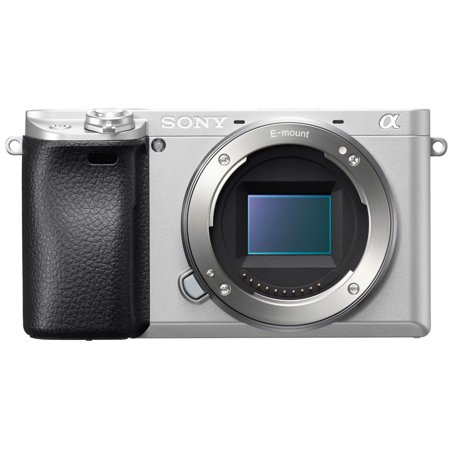 Sony Alpha a6300 Mirrorless Camera with 50mm Lens Bundle (Silver) (Sony 65 Camera)