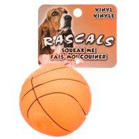 """Rascals Vinyl Basketball for Dogs 2.5"""" Diameter"""