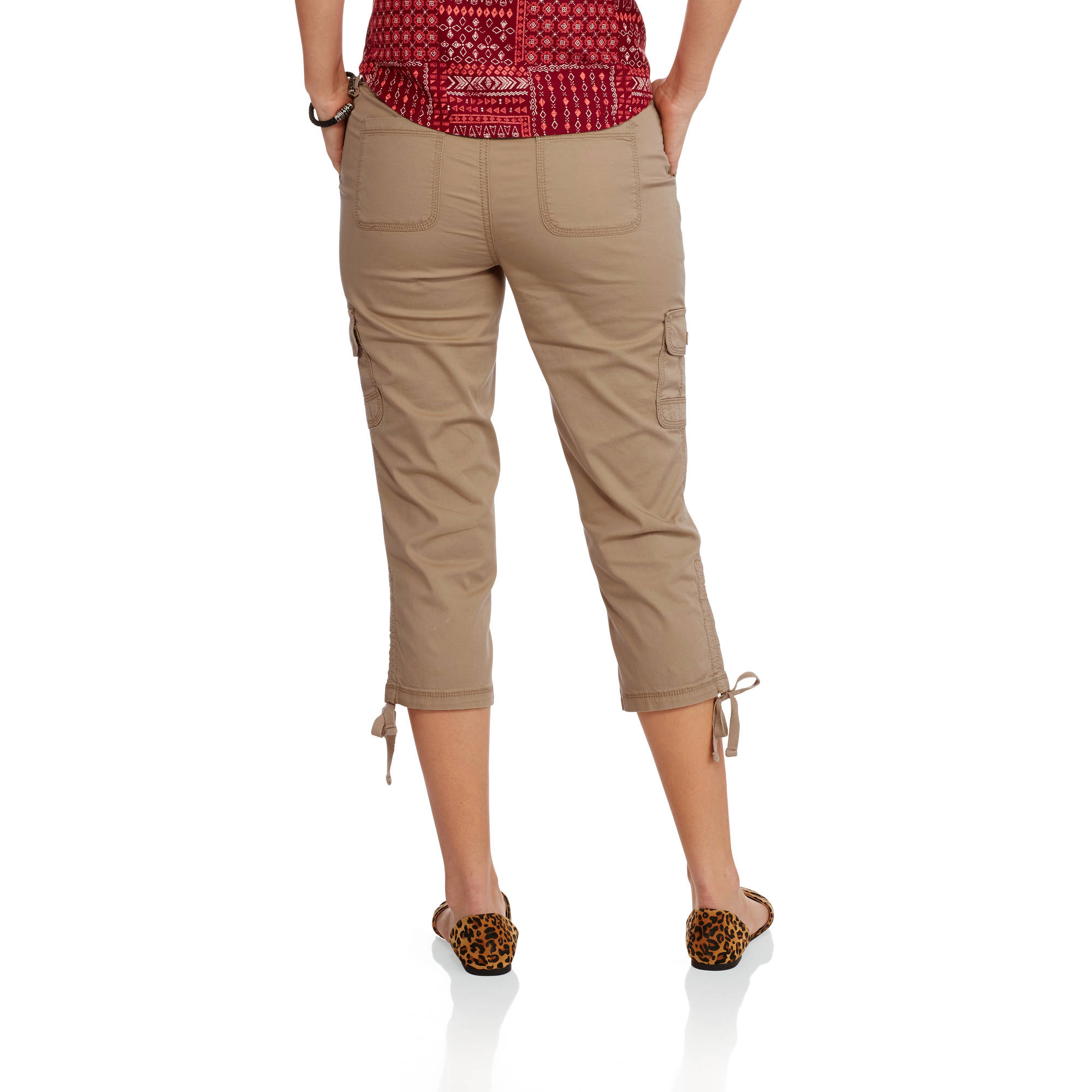 58ea56f3f86f2 Faded Glory - Women s Cargo Capri Pants - Walmart.com