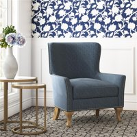 Dorel Living Reva Accent Chair in Blue