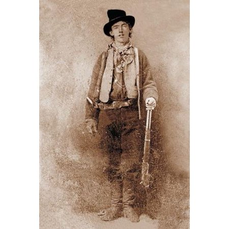 Laminated Poster Billy The Kid Poster Famous Outlaws Western Posters S Poster Print 24 x 36 Billy The Kid Wanted Poster