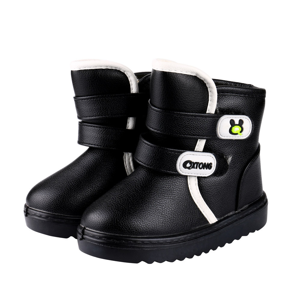 DZT1968 Kids Autumn Winter Warm Fashion Children Martin Girls Boys Casual Snow Boots