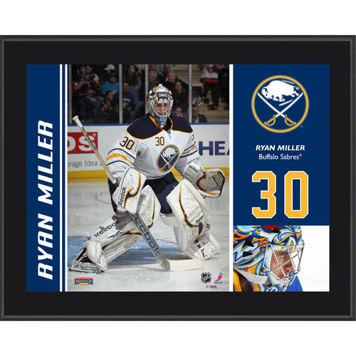 NHL - Ryan Miller Plaque | Details: Buffalo Sabres, Sublimated, 10x13, NHL Plaque