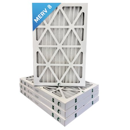 12x24x2 Merv 8 Pleated Ac Furnace Air Filters 4 Pack 7