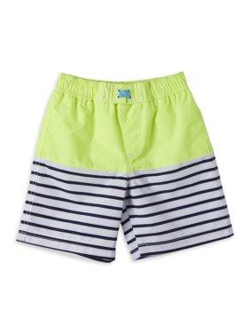 Wippette Baby Toddler Boy Striped Swim Trunks
