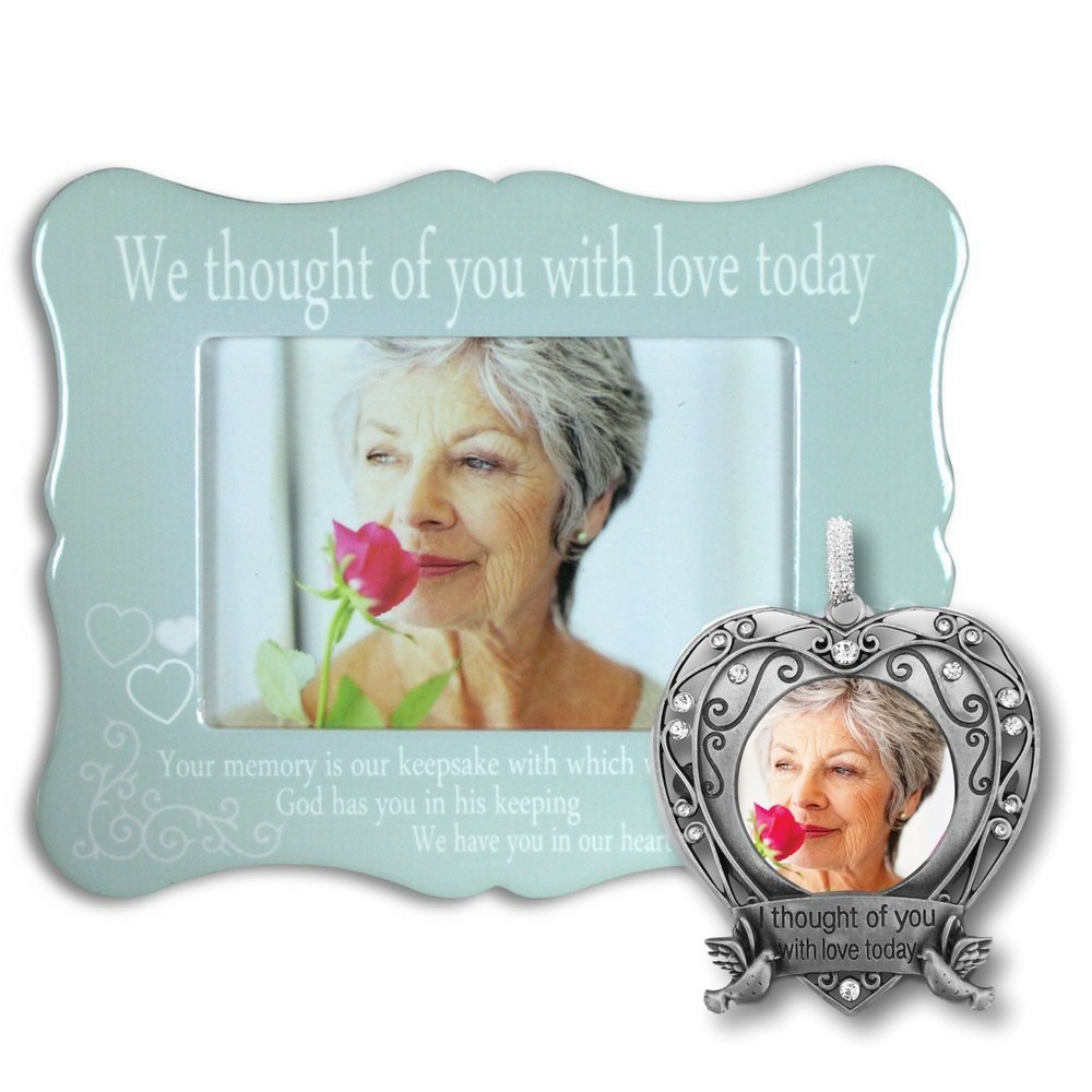 Memorial Picture Frame and Photo Ornament Set - I Thought...