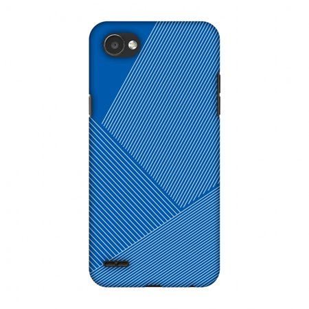 - LG Q6 Case, LG Q6 Plus Case - Carbon Fibre Redux Coral Blue 1,Hard Plastic Back Cover, Slim Profile Cute Printed Designer Snap on Case with Screen Cleaning Kit