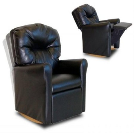 Dozydotes 10739 Contemporary Child Rocker Black Leather Like