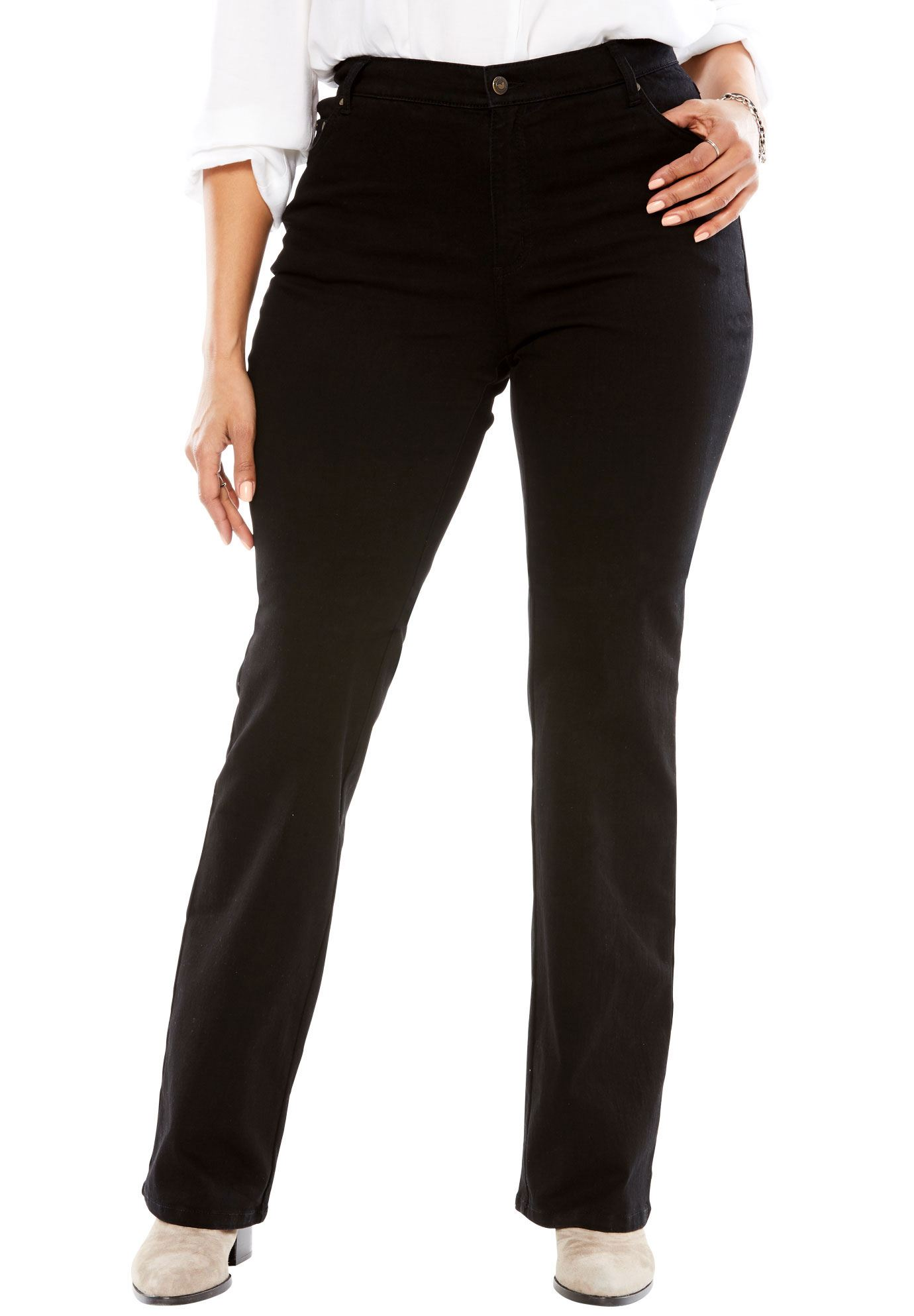 Plus Size Tall Low-rise Stretch Bootcut Jean
