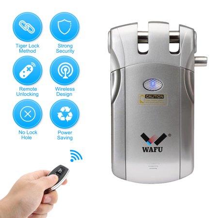 wafu wf-018 wireless remote control lock security invisible keyless door  entry intelligent lock zinc