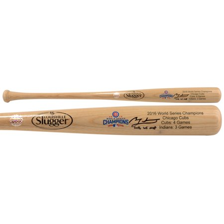 Ben Zobrist Chicago Cubs Fanatics Authentic 2016 MLB World Series Champions Autographed Louisville Slugger Blonde Champions Logo Bat with 2016 WS MVP Inscription - No