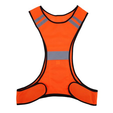 EECOO High Visibility Reflective Vest Safety Vest Night Running Security Clothing Adjustable Waist,Perfect Gear for Running, Jogging, Cycling, Dog Walking, Working or Safety Kit in your (1 Jogging Kit)
