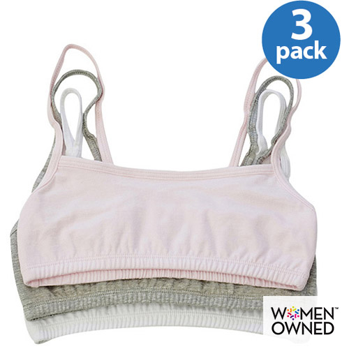 Fruit of the Loom - Girl's Spaghetti Strap Sport Bras, 3-Pack