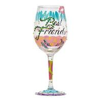 """Lolita from Enesco Best Friends Always Wine Glass, 9"""", Multicolor"""