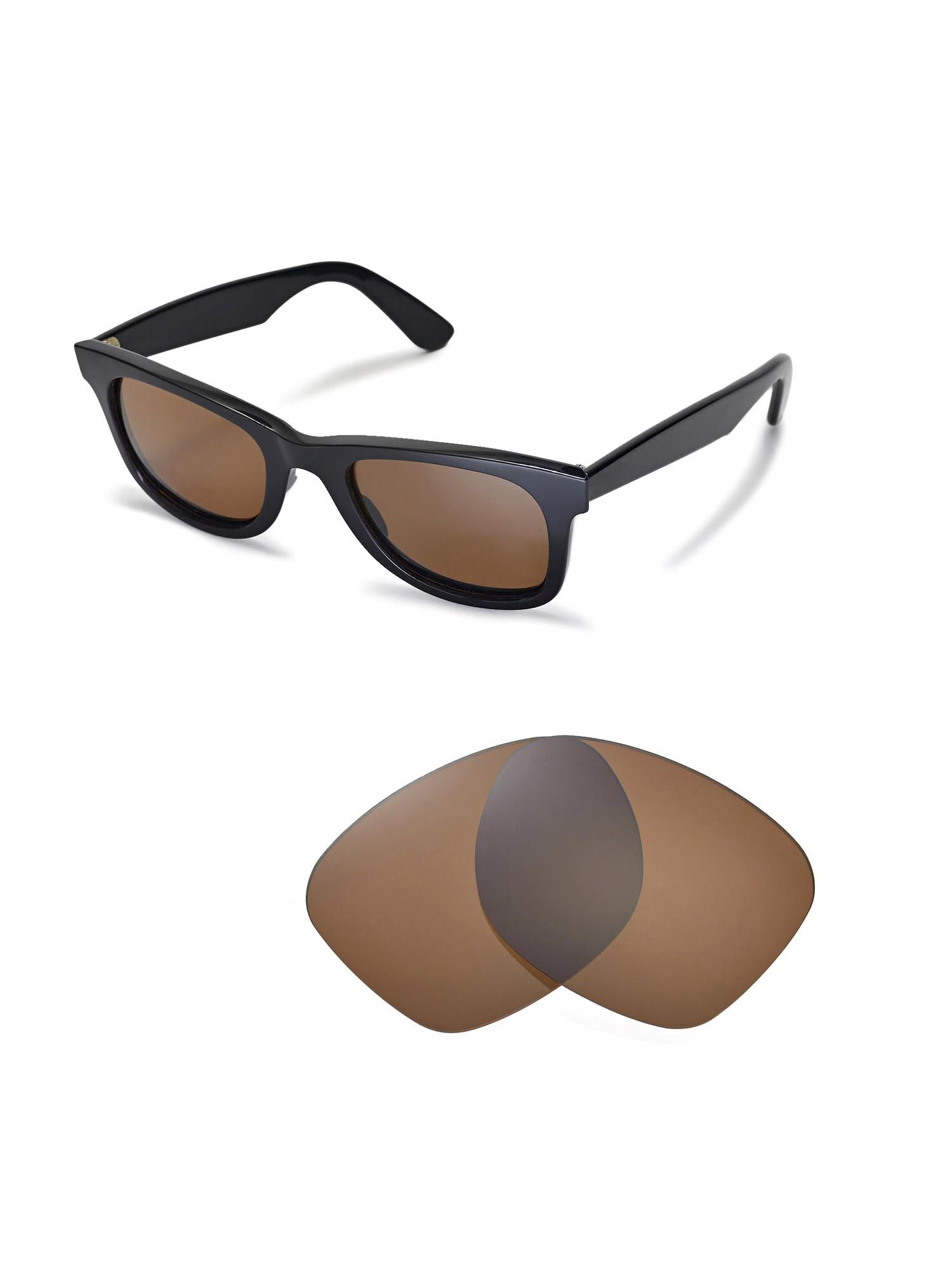 d3848539081591 Walleva Brown Polarized Replacement Lenses for Ray-Ban Wayfarer RB2140 50mm  Sunglasses - Walmart.com