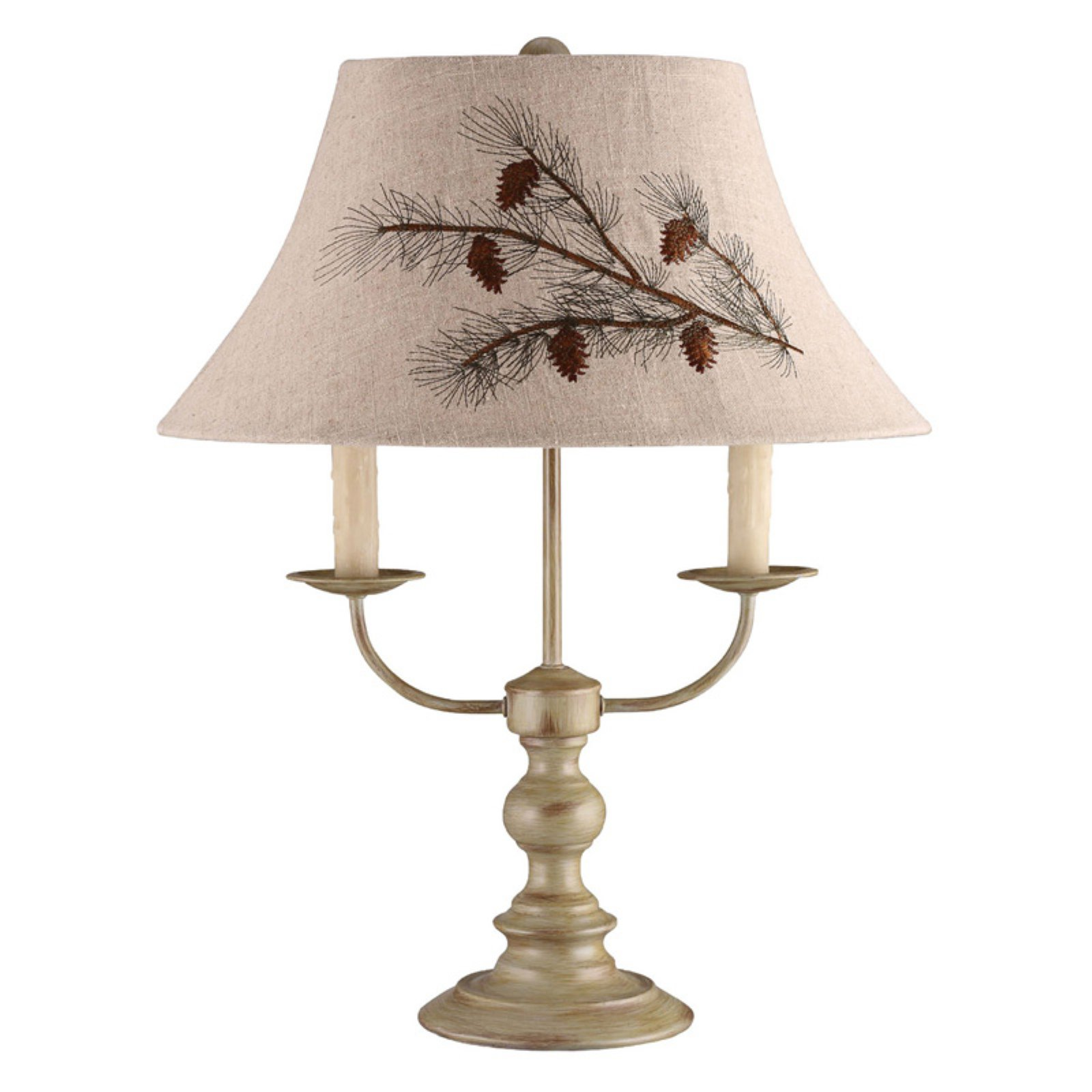 Image of A Homestead Shoppe Bayfield Table Lamp - Pinecone Shade