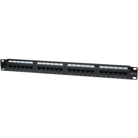 Intellinet Network Solutions 520959 Cat-6 Patch Panel, 24 Port, Utp, 1u