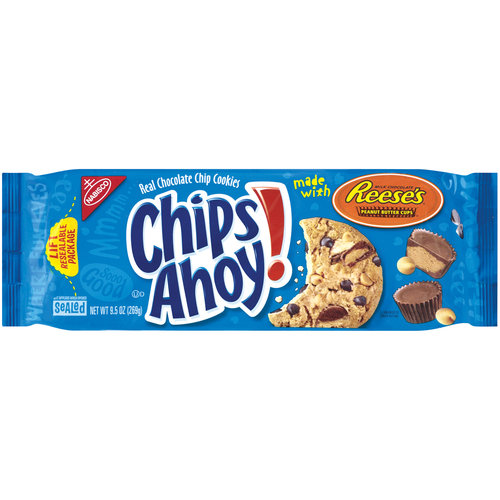 Nabisco Chips Ahoy! Cookies Made With Reeses Peanut Butter Cups, 9.5 oz
