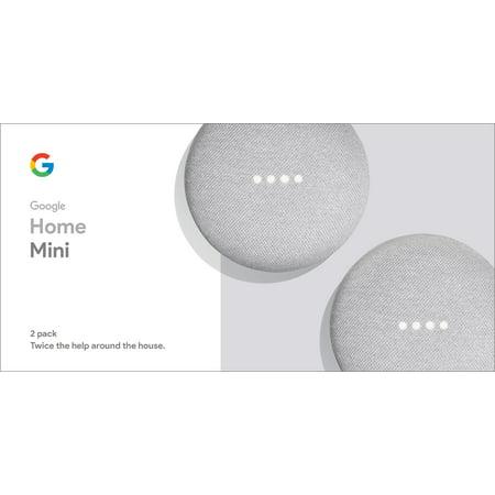 Google Home Mini - Chalk, 2-Pack