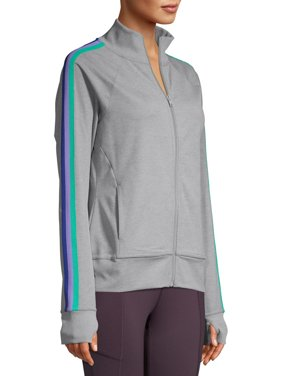 Athletic Works Women's Athleisure Retro Stripe Track Jacket