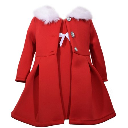 Girls Modern Red Jacket Dress Set 0-3 months