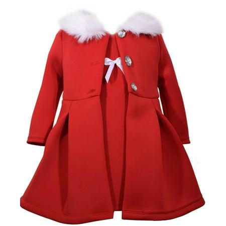 Girls Modern Red Jacket Dress Set 0-3 months