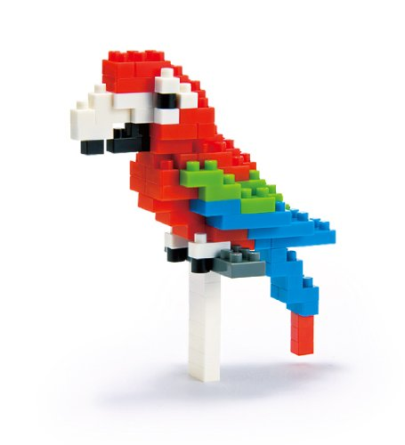 Red and Green Macau, Nanoblock Macau from the �Miniature Collection By Nanoblock by