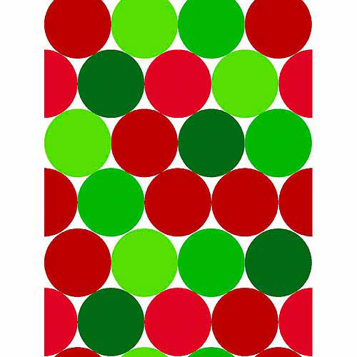 "Springs Creative Christmas Big Dots, Christmas Red, 43/44"" Wide, Fabric By the Yard"