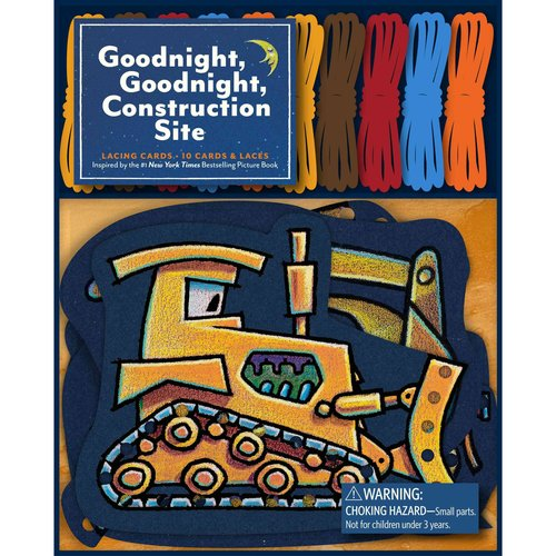 Goodnight, Goodnight, Construction Site Lacing Cards