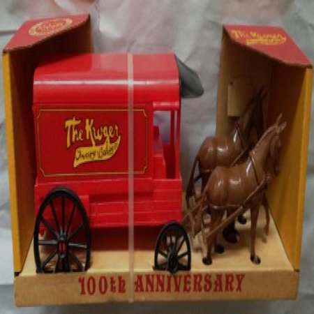 1983 The Kroger Grocery   Baking Co  100Th Anniversary Horse   Carriage Set  Mint In Original Store Display Packagiing