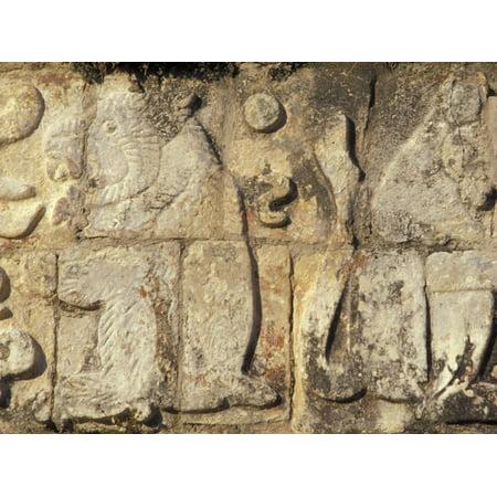 Stone Decorations, Chichen Itza Ruins, Maya Civilization, Yucatan, Mexico Print Wall Art By Michele Molinari - Mexico Decoration