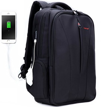 23d8225925 Tigernu Business Laptop Backpack Slim Anti Theft Travel Computer Backpacks  with USB Charging Port Environmentally Water-Resistant Laptops Bag for Men Women  ...